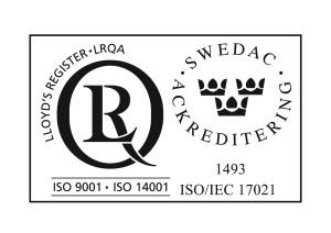 ISO9001,ISO140001 with SWEDAC